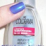Unhas Azulle Ludurana + Reflexos Azuis
