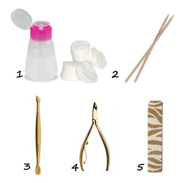 kit para fazer as unhas