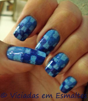 Checkered Nail Art Designs