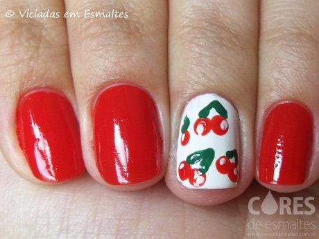 Nail Art de Cerejinha