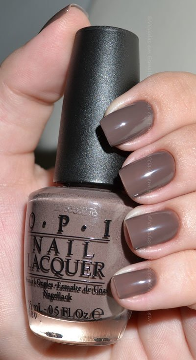 Unhas com Esmalte O.P.I You Don't Know Jacques!