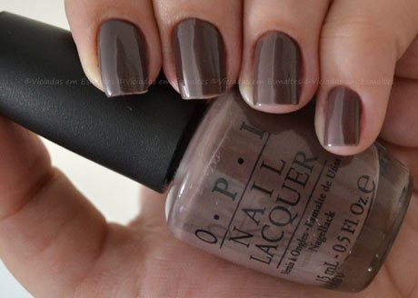 Unhas com Esmalte OPI You Don't Know Jacques!