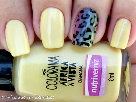 Esmalte Colorama Banana e Filha Única Animal Print