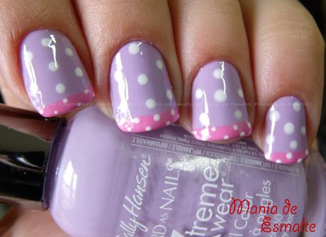 Unhas com esmalte Sally Hansen Hard as Nails