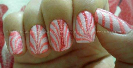 Unhas Marmorizadas Marble Nails