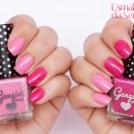 Homa Manicure com esmalte rosa