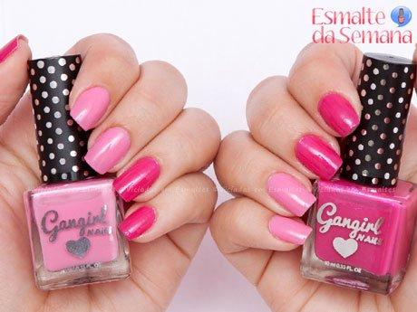 Homa Manicure com <b >esmalte</b > rosa