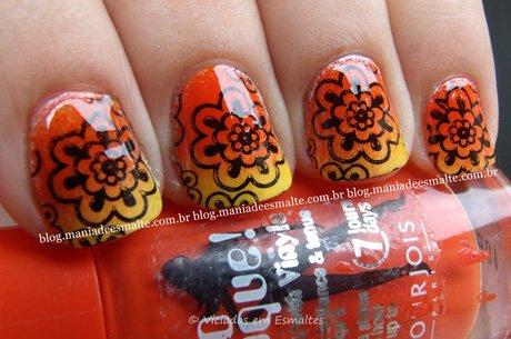 Nail Art com CArimbo