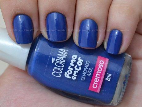 Esmalte Colorama Quadrado Azul