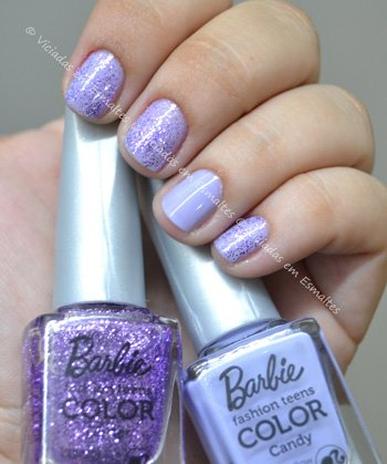 Esmalte Marshmallow e Lovely Barbie Candy COlor