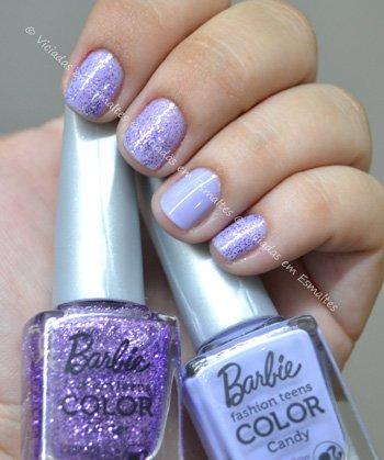 Esmalte Marshmallow e Lovely Barbie Candy COlor
