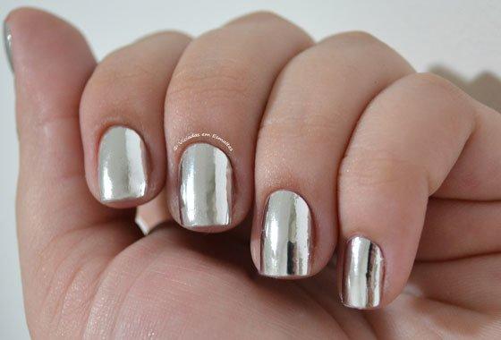 Esmalte em Adesivo Nail Dressor Prata