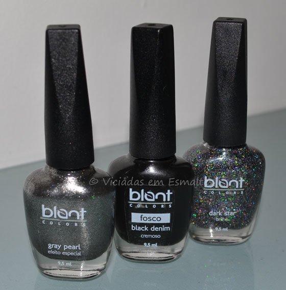 Coleção de <b >Esmaltes</b > Combinadinhos Black Blant COlors