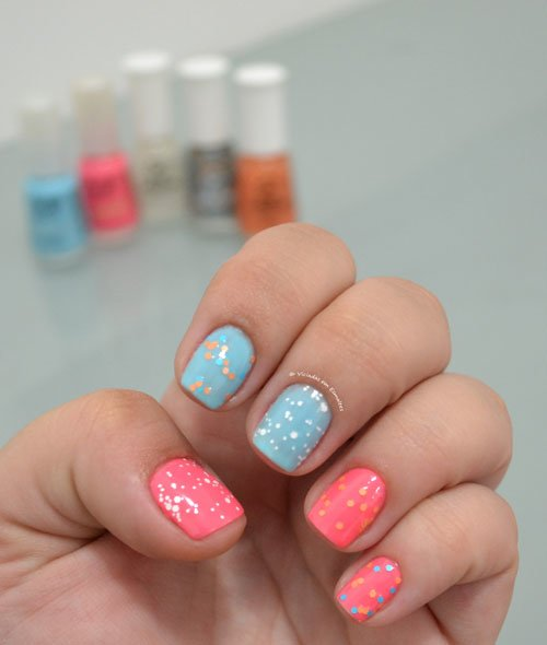 Unhas com Esmaltes Let's Play Top Beauty