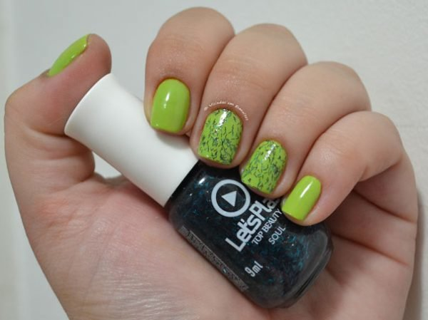 Unhas Decoradas com Glitter Top Beauty Let's Play Soul