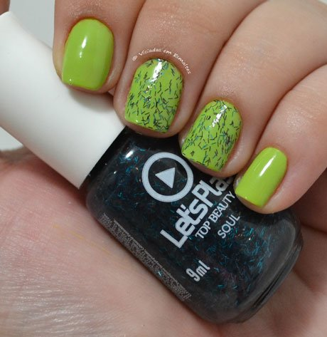 Unhas Gêmeas com Glitter Top Beauty Let's Play Soul