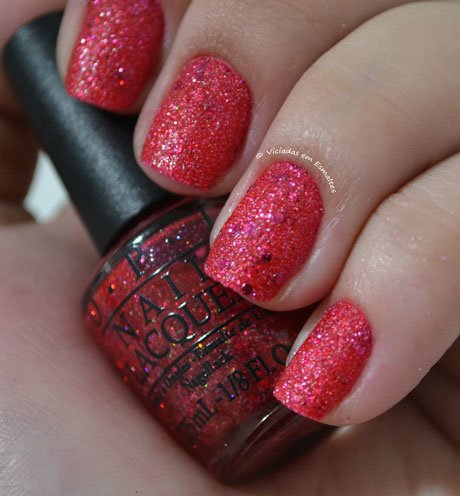 Unhas com Esmalte OPI Liquid Sand The Impossible M48