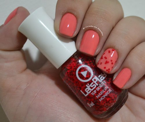 Unha Filha Única com Esmalte marilyn Monroe Top Beauty Let's Play