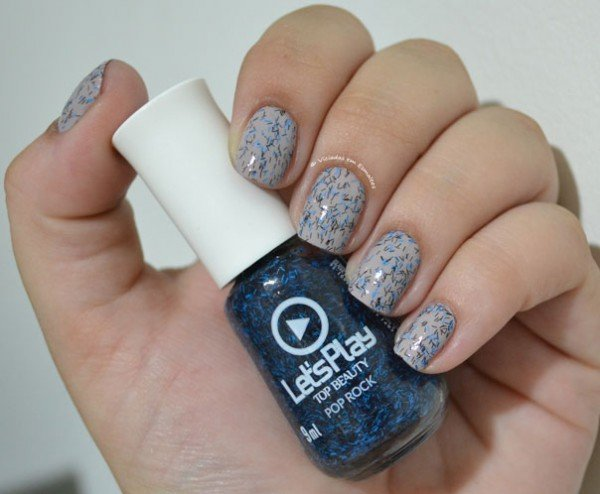 Unhas com Esmalte Top Beauty Pop Rock