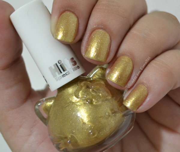 Esmalte Hello Kitty Golden Shine