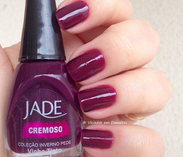 Esmalte Jade Vinho Tinto
