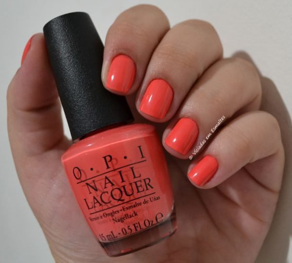 Unhas com Esmalte O.P.I Toucan Do It If You Try