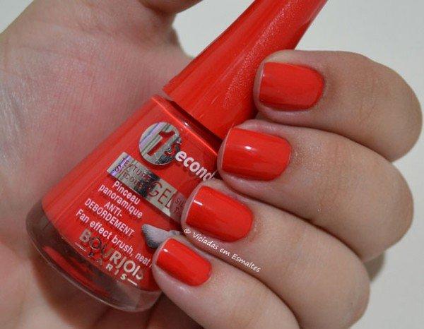 Esmalte Bourjois Gel 1 Seconde Rouge Poppy T10