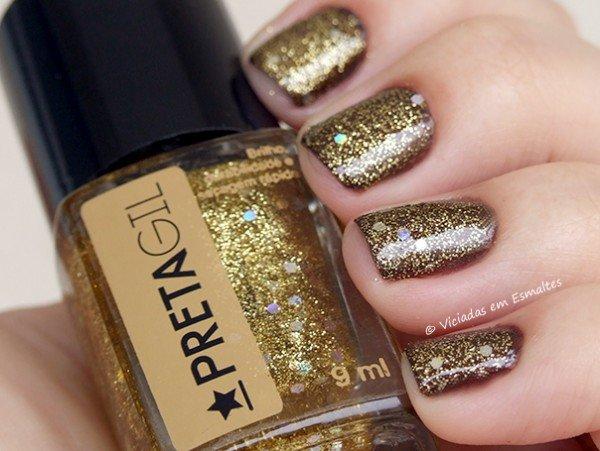 Esmalte com Glitter Preta Gil Maravilhinsk
