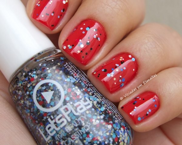 Esmalte Top beauty Cassino Matte Glitter Let's Play