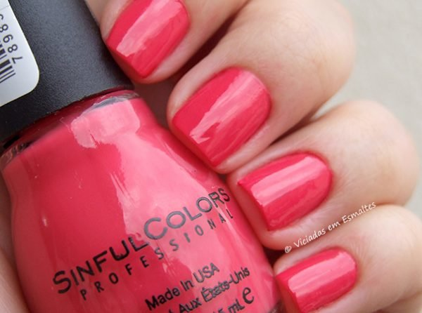 Testando o Esmalte Sinful Colors Thimbleberry