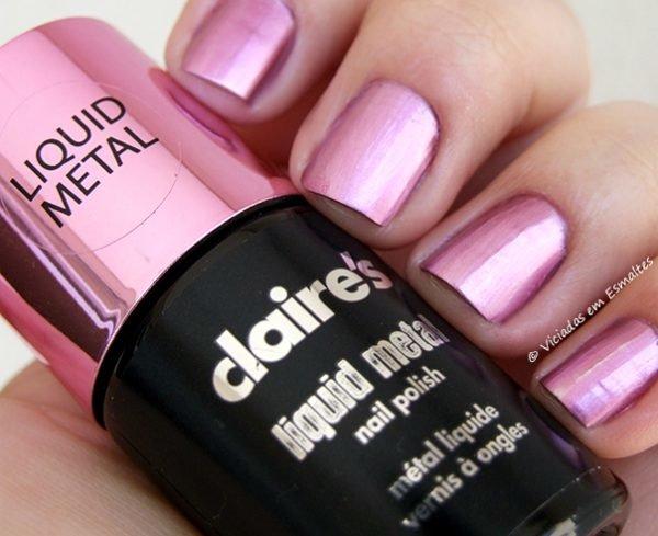 Esmalte Claires Liquid Metal Pink