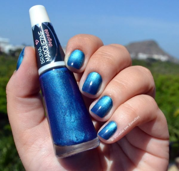 esmalte degrade bruna marquezine blue black