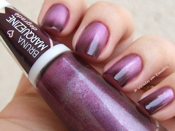 Esmalte Bruna Marquezine Degrade Violeta Black