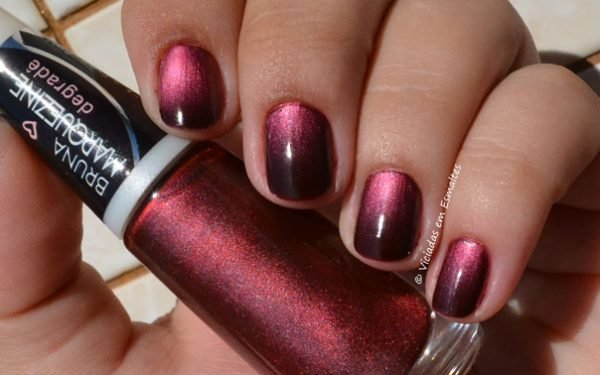 esmalte degrade bruna marquezine red black