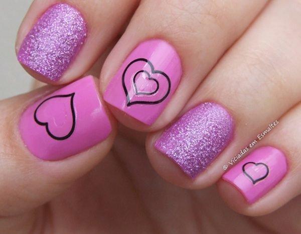 Nail Art com esmalte Bruna Marquezine e Jade