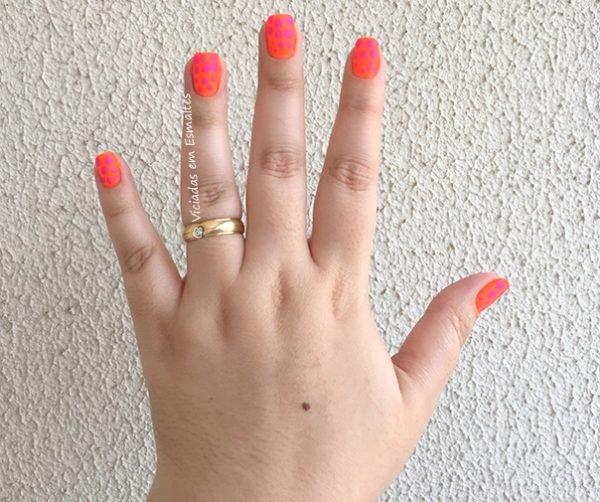 Nail Art <b >Unhas</b > de Poá Foscas