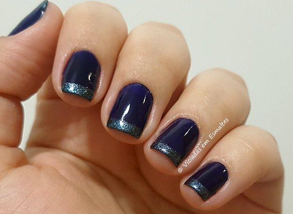 Unhas Francesinha Esmaltes Azuis