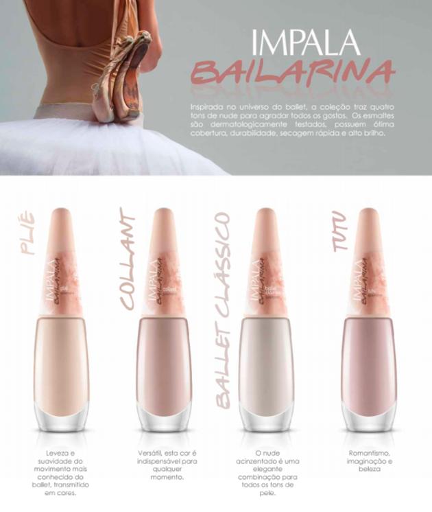 Coleção de <b >Esmaltes</b > Impala Bailarina