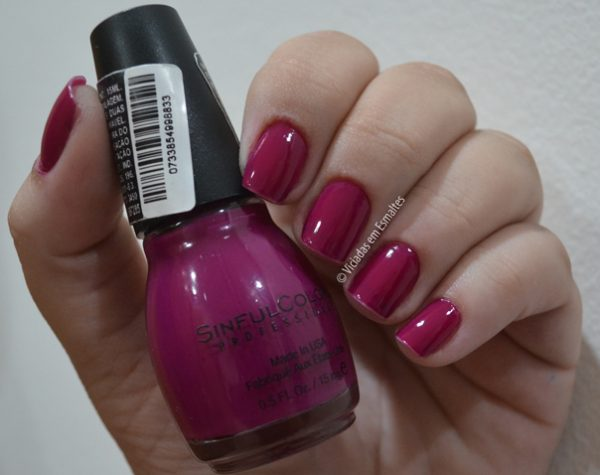 Testando e Amando o Esmalte Sinful Colors Poisonberry
